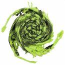 Kufiya - Keffiyeh - Corazones verde-verde brillante -...