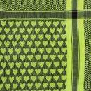Palituch - Herzen grün-grellgrün - schwarz - Kufiya PLO Tuch