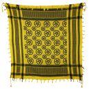 Palituch - Pentagramm gelb - schwarz - Kufiya PLO Tuch