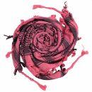 Palituch - Pentagramm rosa - schwarz - Kufiya PLO Tuch