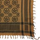 Palituch - Pentagramm braun - schwarz - Kufiya PLO Tuch