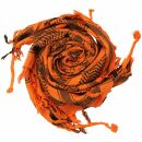 Palituch - Totenköpfe mit Knochen groß orange...
