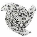 Cotton Scarf - Berlin icons white - black - squared kerchief