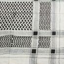 Baumwolltuch - Palituch Motiv 1 weiß - schwarz -...