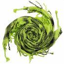 Palituch - Totenköpfe klein grün-grellgrün...