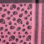 Palituch - Totenköpfe klein rosa - schwarz - Kufiya PLO Tuch