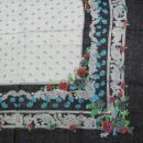 Baumwolltuch - Blumenmuster 2 schwarz - quadratisches Tuch