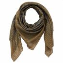 Cotton Scarf - Indian pattern 1 - brown Lurex silver -...