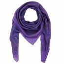 Cotton Scarf - Indian pattern 1 - purple Lurex multicolor...
