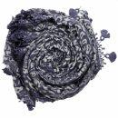 Dreiecktuch - Blumenmuster - blau - Halstuch