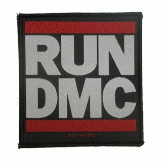 Parche - RUN DMC - Logo blanco-rojo-negro