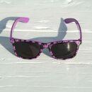 Freak Scene Sonnenbrille - L - Smilers lila-schwarz