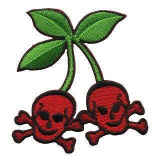 Patch - Cherrys-Skull - laughing skulls