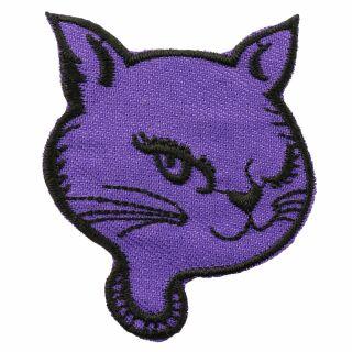 Patch - testa di gatto - viola-nero - toppa