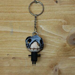 Schlüsselanhänger - Der graue Ritter - Holzfigur
