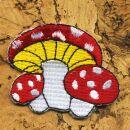 Parche - Matamoscas - rojo-blanco