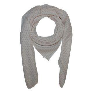 Sciarpa di cotone - bianco - lurex oro - foulard quadrato