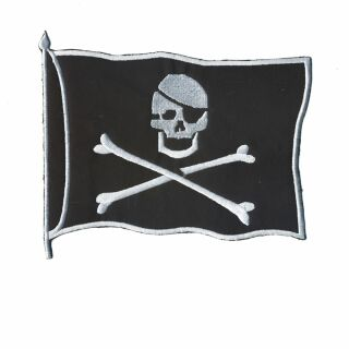Parche grande - Banda de las piratas - negro-blanco