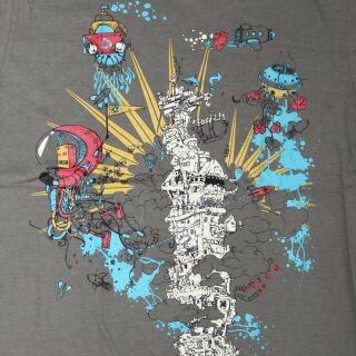 T-Shirt - Unterwasser-Welt grau