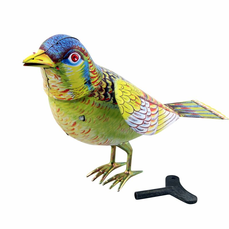 Blechspielzeug ° singing bird singender vogel singvogel
