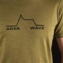 T-Shirt - ADSR WAVE oliv-grün
