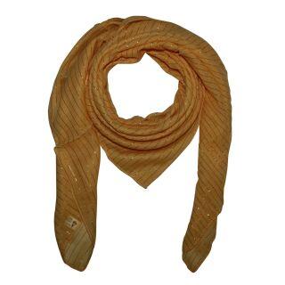 Baumwolltuch - gelb Lurex gold - quadratisches Tuch