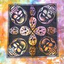 Stofftasche - Afrikanische Masken-Totenköpfe - Batik...
