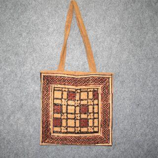Stofftasche - Muster 2 - braun-schwarz-weiß - Stoffbeutel