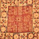 Stofftasche - Muster 4 - braun-rot-schwarz-weiß - Stoffbeutel