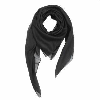 Sciarpa di cotone - nero - foulard quadrato