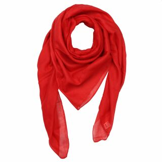 Baumwolltuch - rot - quadratisches Tuch
