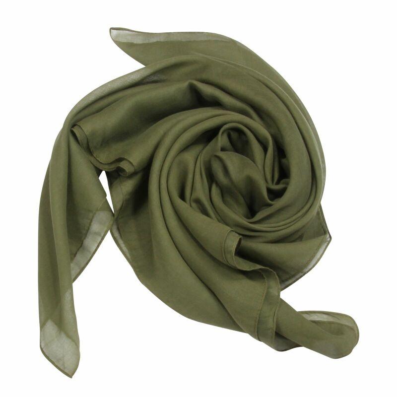 Baumwolltuch ° grün khaki ° quadratisches Tuch