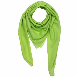 Cotton Scarf - green - lime - squared kerchief