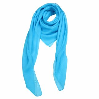 Cotton Scarf - turquoise - squared kerchief