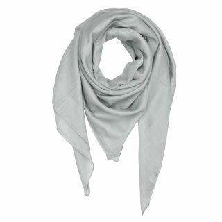 Sciarpa di cotone - grigio-chiaro - foulard quadrato
