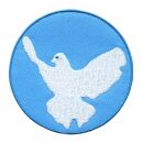 Patch - Peace dove - blue-white