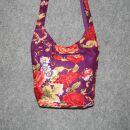 Stofftasche - Blumenmuster lila-pink - Stoffbeutel