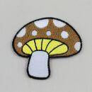 Aufnäher - Pilz - Fliegenpilz braun-weiß - Patch