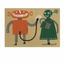 Postkarte - Robots in love