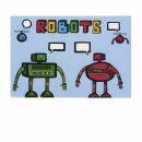 Postkarte - Talking robots