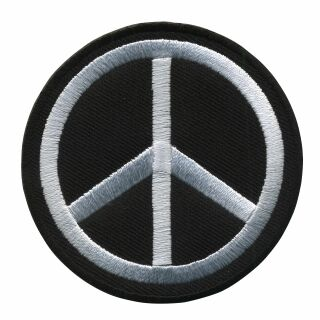 Parche - Signo de paz - negro blanco