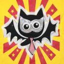 Bolsa de tela con aplicación - murciélago