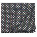 Pañuelo de algodón - Estrellas 0,7 cm negro - blanca Lúrex multicolor - Bufanda rectangular