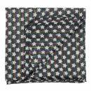 Pañuelo de algodón - Estrellas 1,5 cm negro - blanca Lúrex multicolor - Bufanda rectangular