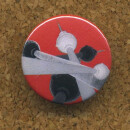 Button ° Berlin - Alexanderplatz Fernsehturm rot ° Anstecker