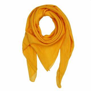 1e2cab6708460d Baumwolltuch - gelb - mandarin - quadratisches Tuch