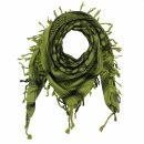 Kufiya - Keffiyeh - Corazones verde-verde oliva - negro -...