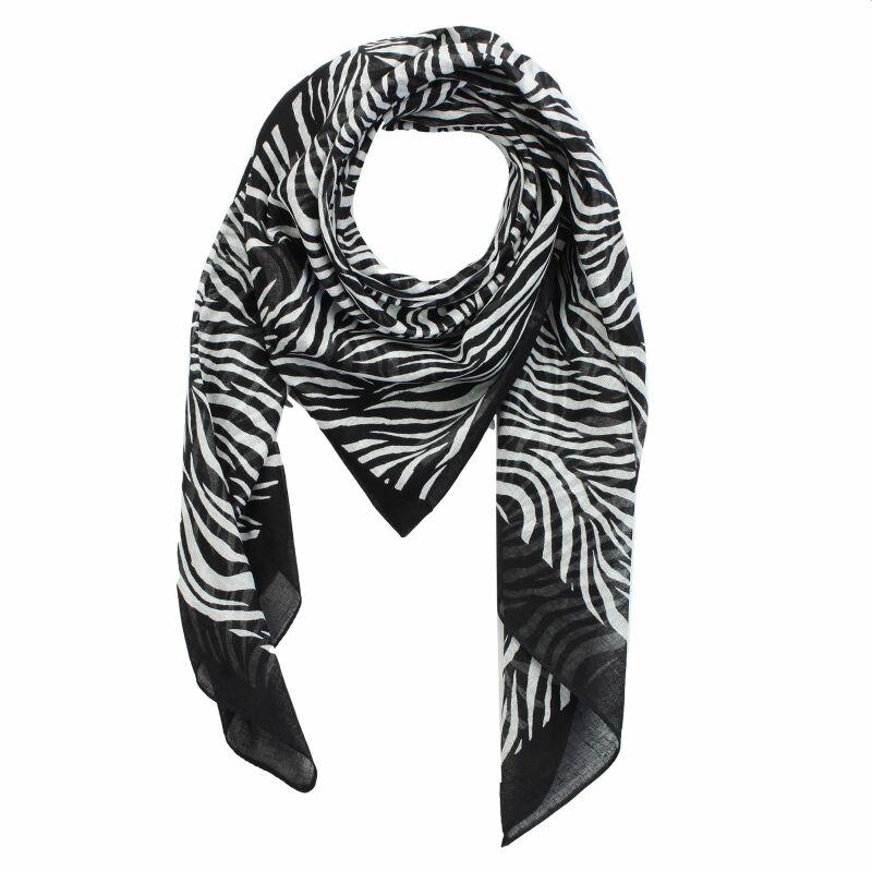 baumwolltuch zebra schwarz wei quadratisches tuch. Black Bedroom Furniture Sets. Home Design Ideas