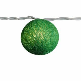 Lichterkettenkugel - Cocoon Kugel - grün-dunkel