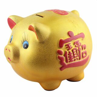 Savings box - Lucky pig gold big